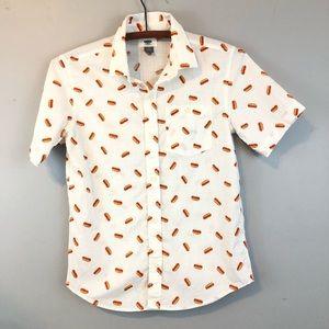 Old Navy Hot Dog Print Shirt